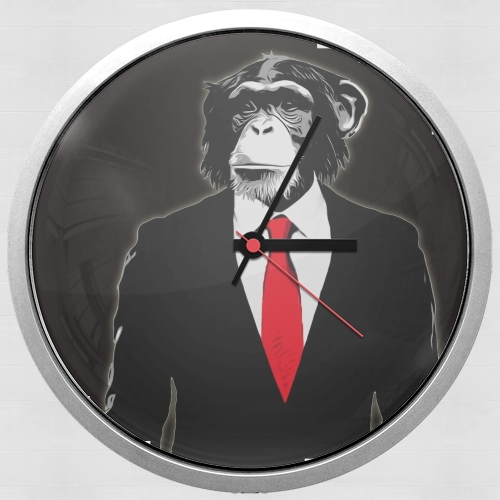 clock-wall-monkey-domesticated-white